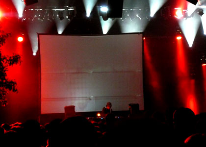 Amon Tobin playing in Ghent at the Blue Note Records Festival