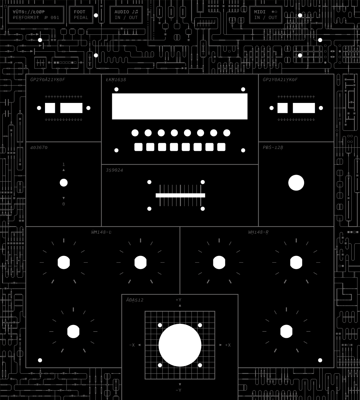 The graphics for the Autoloop Performer Synth.
