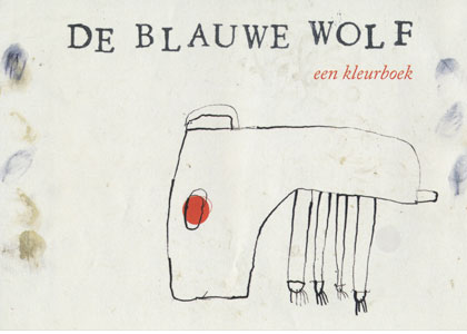 Flyer for the exhibition De Blauwe Wolf - Front