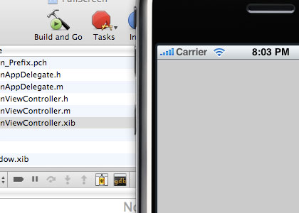 Build the Application and see the Status Bar in iPhone Simulator