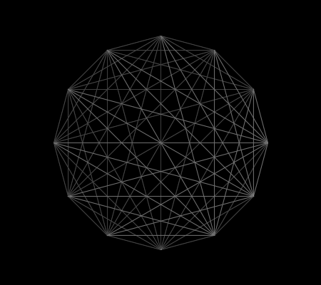 Connecting 12 points located on the circumference of a circle