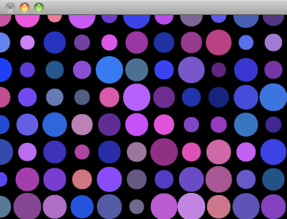 Screenshot of the Circle Grid in openFrameworks