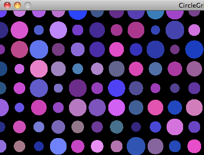 Screenshot of the Circle Grid in Processing