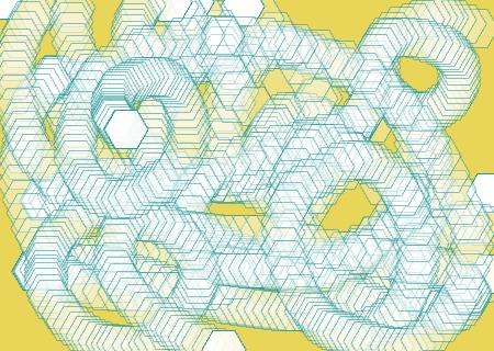 A custom hexagon made with the PShape class