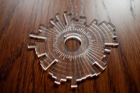 Data visualisation made with Processing and a lasercutter