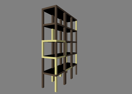 3D Model of the storage rack made with processing.org