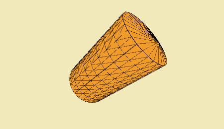 A cylinder created with Hemesh