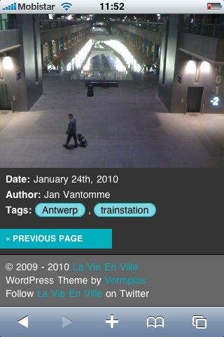 Screenshot of La Vie En Ville - iPhone Version