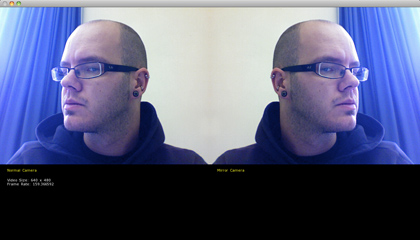 A screengrab of the mirrored video project.