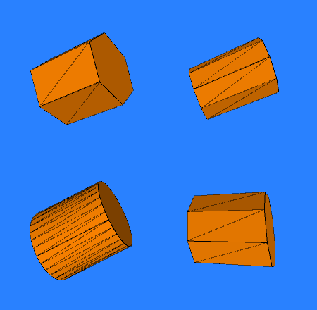 3D Cylinders made with Processing