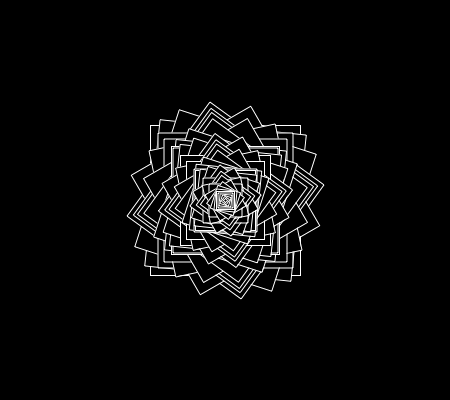 Square Flowers, Made with Processing
