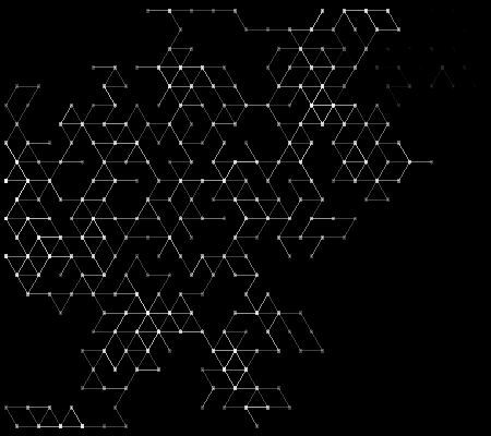 A triangle grid made with Processing