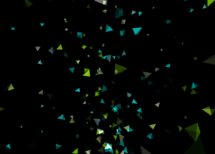 Triangles, Generative Visuals for my performance at Volta 09