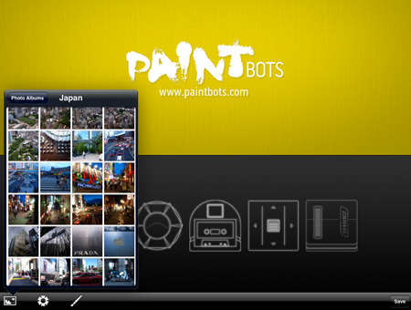 Select a photo to create a digital painting with Paintbots.